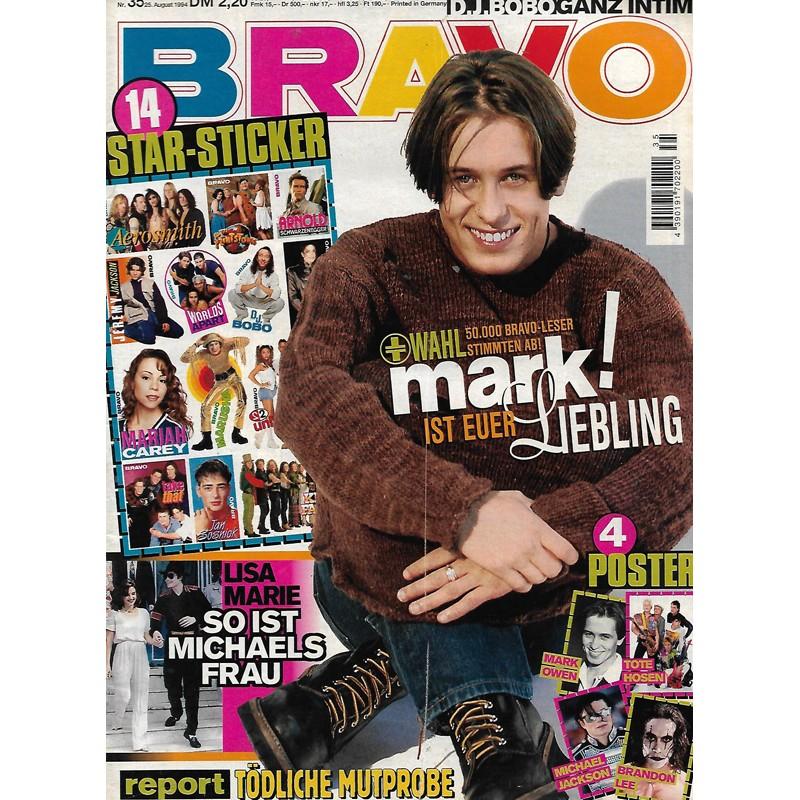 BRAVO Nr.35 / 25 August 1994 - Mark ist euer Liebling