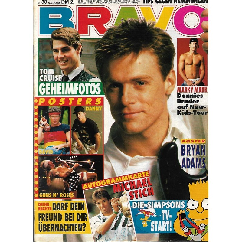 BRAVO Nr.38 / 12 September 1991 - Bryan Adams
