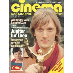 CINEMA 4/81 April 1981 - Jupiter für Theo