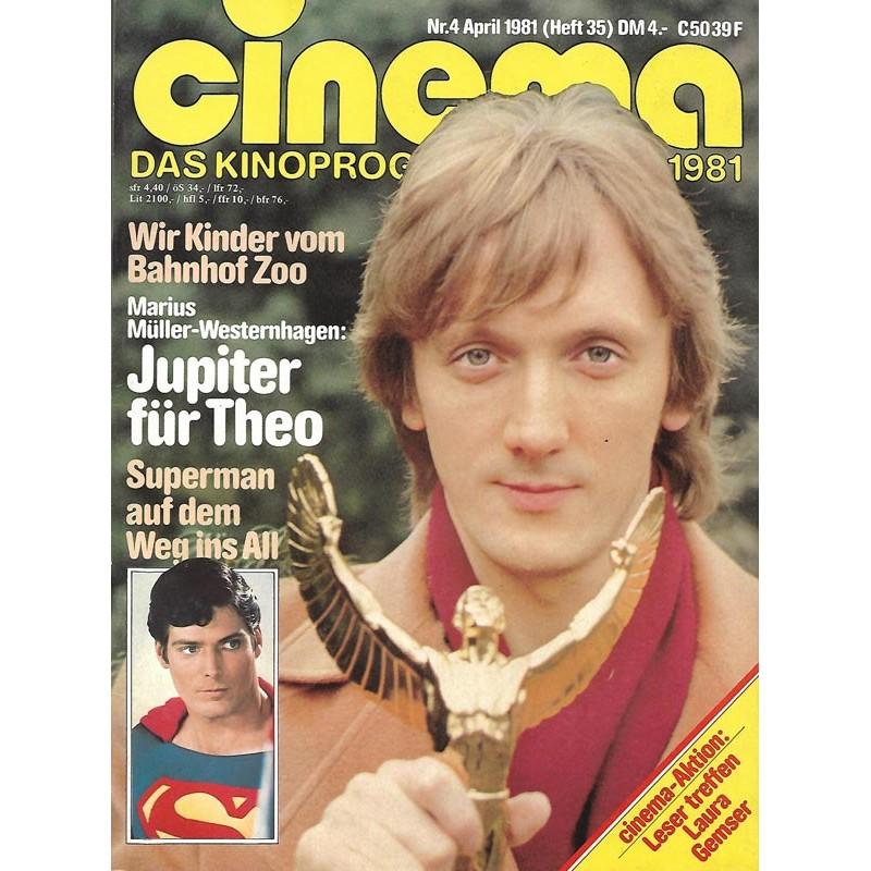 CINEMA 4/81 April 1981 - Jupiter für Theo