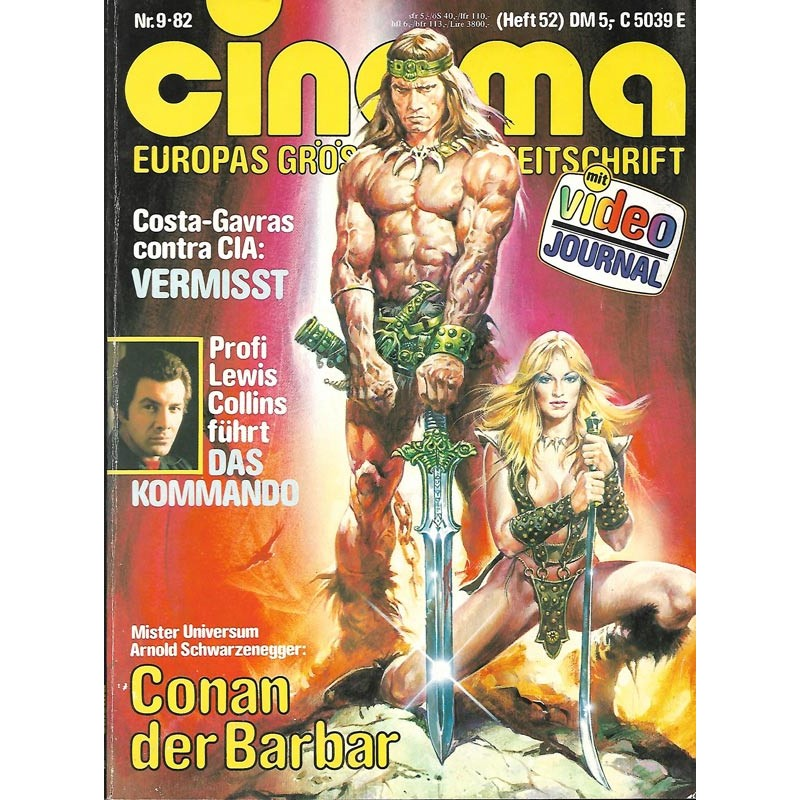 CINEMA 9/82 September 1982 - Conan der Barbar