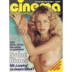 CINEMA 5/81 Mai 1981 - Sydne Rome