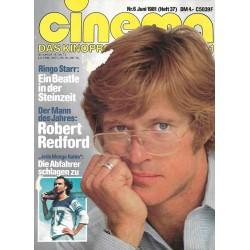CINEMA 6/81 Juni 1981 - Robert Redford