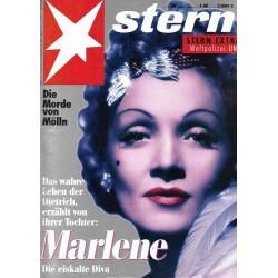 stern Heft Nr.50 / 3 Dezember 1992 - Marlene
