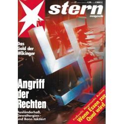 stern Heft Nr.37 / 3 September 1992 - Angriff der Rechten