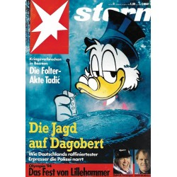 stern Heft Nr.9 / 24 Februar 1994 - Die Jagd auf Dagobert