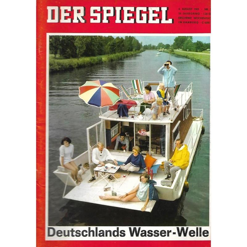 Der Spiegel Nr.32 / 4 August 1965 - Deutschlands Wasser Welle