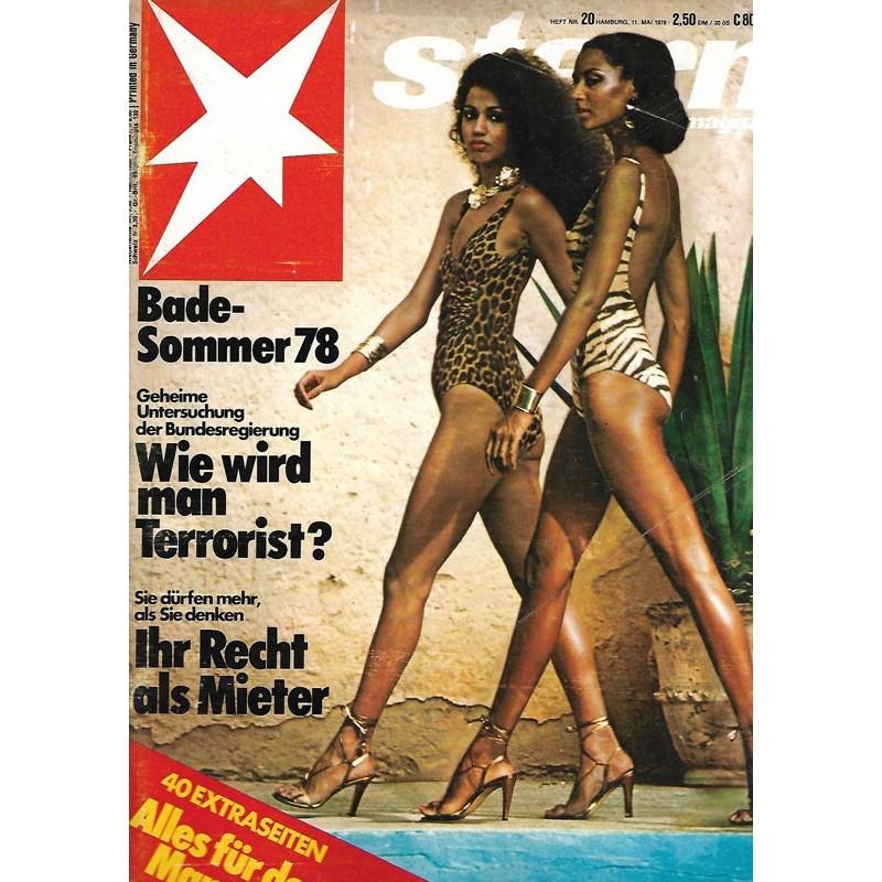 stern Heft Nr.20 / 11 Mai 1978 - Bade Sommer 78