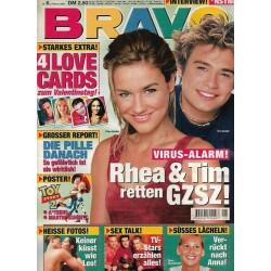 BRAVO Nr.6 / 2 Februar 2000 - Rhea & Tim retten GZSZ!