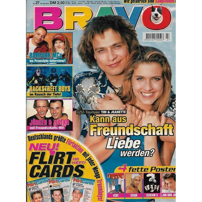 BRAVO Nr.27 / 28 Juni 2000 - Tim & Jeanette aus GZSZ