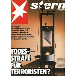 stern Heft Nr.40 / 22 Sep. 1977 - Todes Strafe für Terroristen?