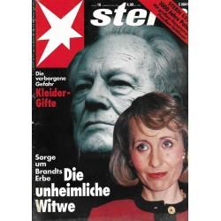 stern Heft Nr.18 / 29 April 1993 - Die unheimliche Witwe