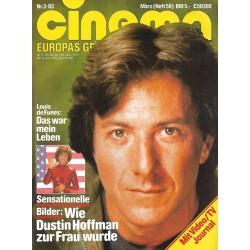 CINEMA 3/83 März 1983 - Dustin Hoffman