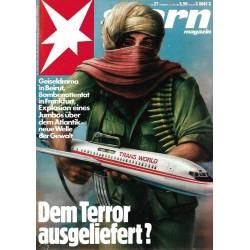 stern Heft Nr.27 / 27 Juni 1985 - Dem Terror ausgeliefert