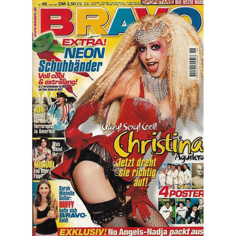 BRAVO Nr.46 / 7 November 2001 - Christina Ahuilera