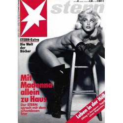 stern Heft Nr.41 / 1 Oktober 1992 - Mit Madonna allein zu Haus