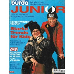 burda Junior Herbst/Winter 1996/1997 - Starke Trends für Kids
