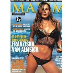 MAXIM Dezember 2002 - Franziska Van Almsick
