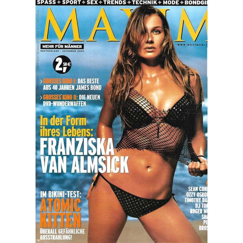 MAXIM Dezember 2002 - Franziska Van Almsick Magazin