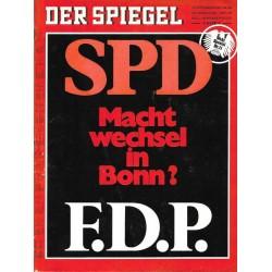 Der Spiegel Nr.40 / 30 September 1969 - SPD und F.D.P