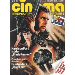 CINEMA 10/82 Oktober 1982 - Blade Runner