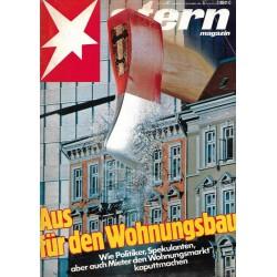 stern Heft Nr.47 / 12 November 1981 - Aus für den Wohnungsbau