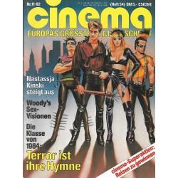 CINEMA 11/82 November 1982 - Terror ist ihre Hymne