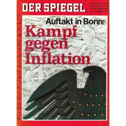 Der Spiegel Nr.43 / 20 Oktober 1969 - Kampf gegen Inflation