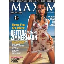 MAXIM Januar 2003 - Bettina Zimmermann