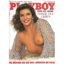 Playboy Nr.6 / Juni 1984 - Jolanda Egger