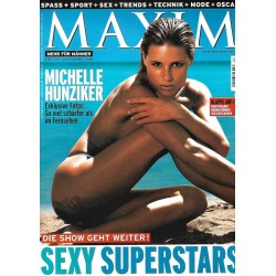 MAXIM April 2003 - Michelle Hunziker