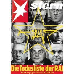 stern Heft Nr.39 / 20 September 1990 - Die Todeliste der RAF
