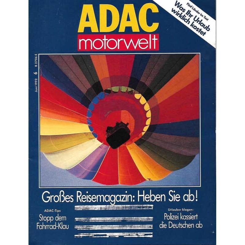 ADAC Motorwelt Heft.6 / Juni 1992 - Heben Sie ab!