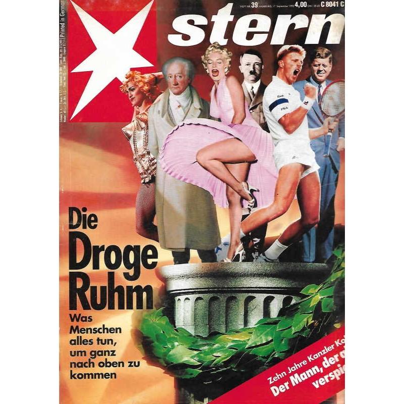 stern Heft Nr.39 / 17 September 1992 - Die Droge Ruhm