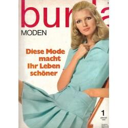burda Moden 1/Januar 1970 - Schlagermodelle für Januar