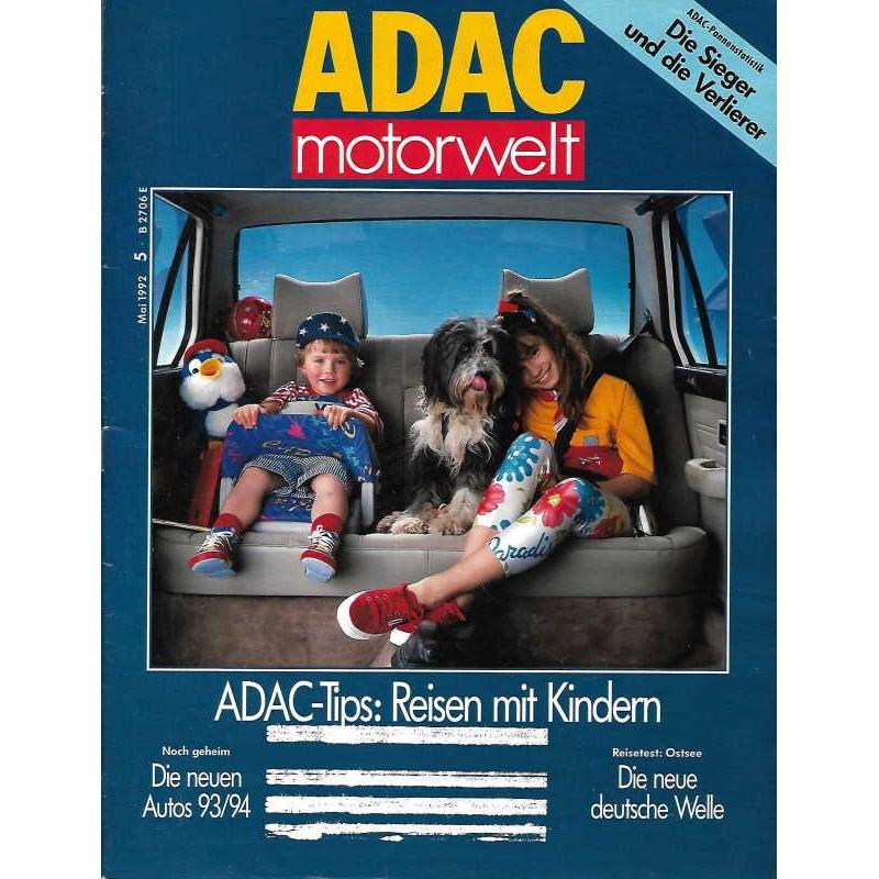 ADAC Motorwelt Heft.5 / Mai 1992 - Reisen mit Kindern