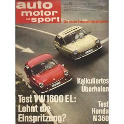 auto motor & sport Heft 15 / 20 Juli 1968 - Test VW 1600 EL