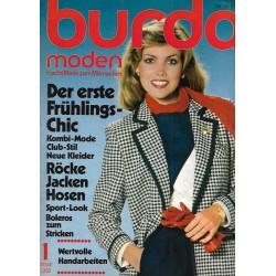 burda Moden 1/Januar 1980 - Der erste Frühlings-Chic