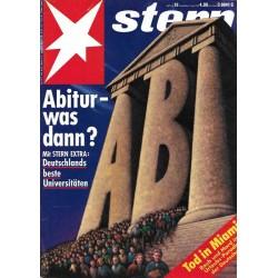 stern Heft Nr.16 / 15 April 1993 - Abitur, was dann?