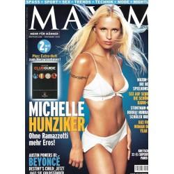 MAXIM November 2002 - Michelle Hunziker
