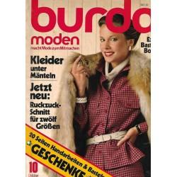 burda Moden 10/Okt 1979 - Kleider unter Mänteln