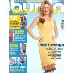 burda Moden 6/Juni 2001 - Maria Furtwängler im burda-Design