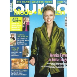 burda Moden 1/Jan 2001 - Veronica Ferres im burda Design