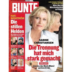 BUNTE Nr.35 / 21 August 2002 - Sabine Christiansen