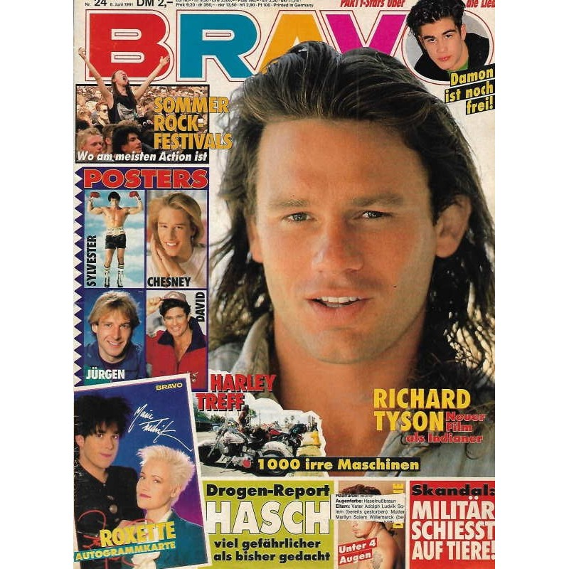 BRAVO Nr.24 / 6 Juni 1991 - Richard Tyson