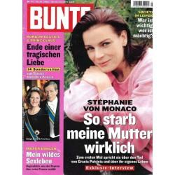 BUNTE Nr.42 / 10 Oktober 2002 - Stephanie von Monaco