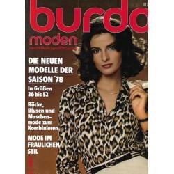 burda Moden 1/Januar 1978 - Die neuen Modelle