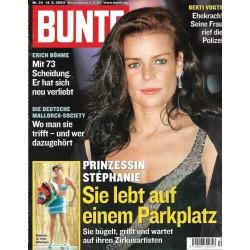 BUNTE Nr.34 / 14 August 2003 - Prinzessin Stephanie