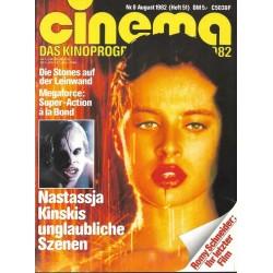 CINEMA 8/82 August 1982 - Nastassja Kinskis Szenen
