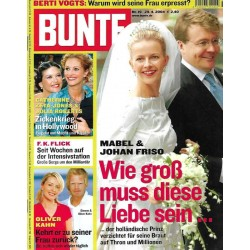 BUNTE Nr.19 / 29 April 2004 - Mabel & Johan Friso